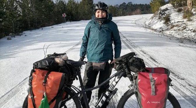 Brezilyalı Tur Bisikletçisi Beyşehir'de